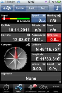 Ansicht GPS